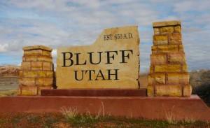 Welcome to Bluff, Utah.